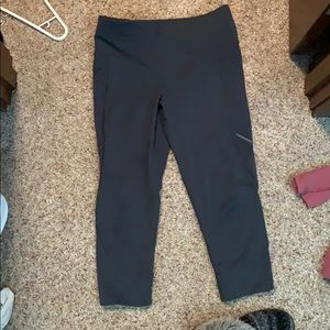 Lululemon Capri with mesh at bottom